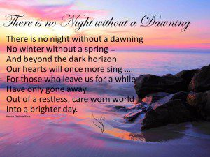 Funeral Poem There is no night