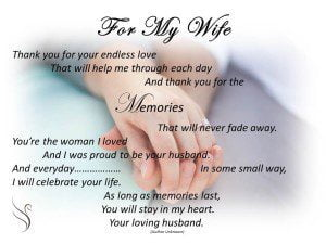 Funeral Poem For My Wife